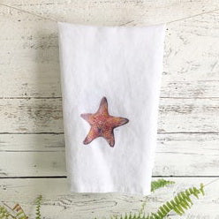 Pink Starfish Tea Towels by Emma Pyle