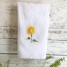 Sunflower Tea Towel by Emma Pyle Art