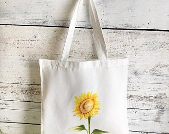 Sunflower Tote Bag by Emma Pyle Art
