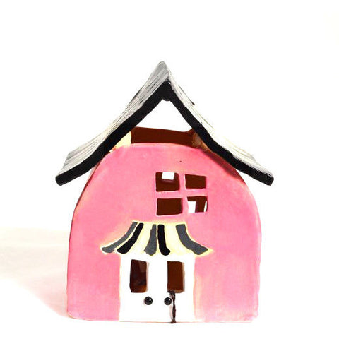 SMALL PINK COTTAGE LANTERN - Side Street Studio