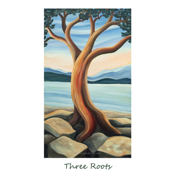 """THREE ROOTS"" 8X10 MATTED PRINT"