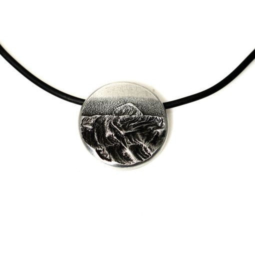 WEST COAST STORM PENDANT - SMALL SILVER - Side Street Studio