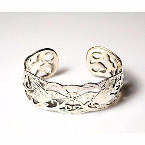 HUMMINGBIRD DESIGN STERLING SILVER CUFF