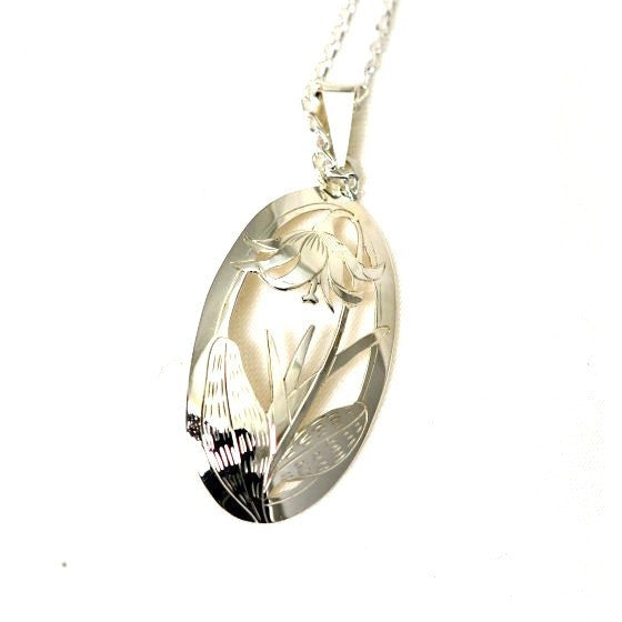 FAWN LILY PENDANT STERLING SLIVER - Side Street Studio - 1