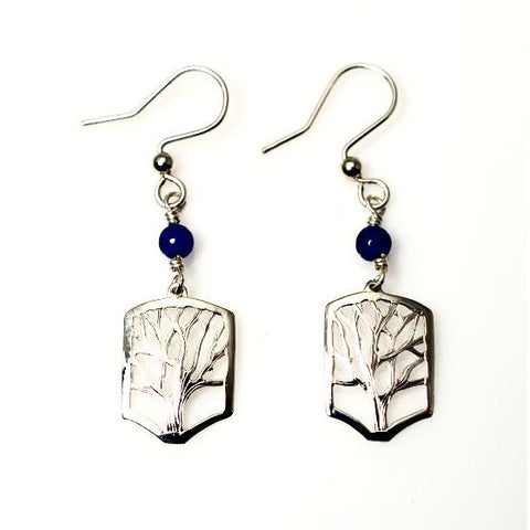 TINY TREE SILVER EARRINGS - Side Street Studio