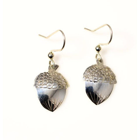 SILVER ACORN EARRINGS - Side Street Studio