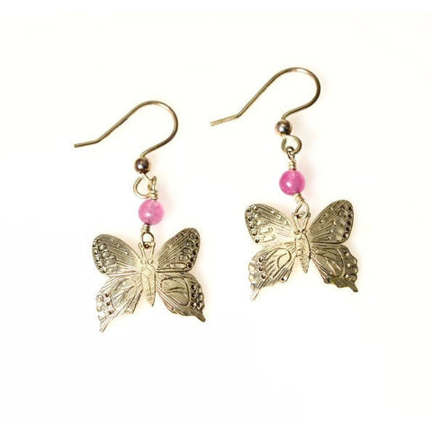 STERLING SILVER BUTTERFLY EARRINGS - Side Street Studio
