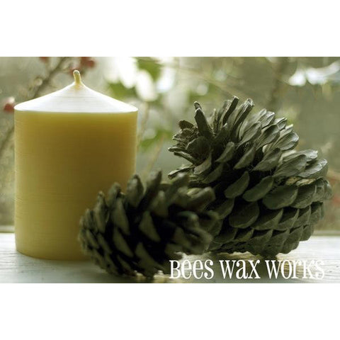 Pure Beeswax 3 Inch Wide Pillar Candle - Side Street Studio