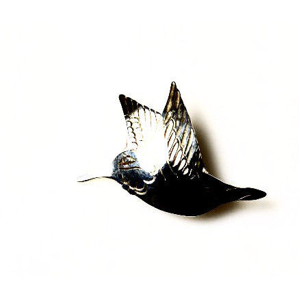 STERLING SILVER HUMMINGBIRD BROOCH - Side Street Studio