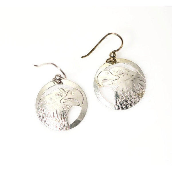 SILVER EAGLE EARRINGS - Side Street Studio