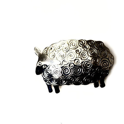 STERLING SILVER SHEEP BROOCH - Side Street Studio