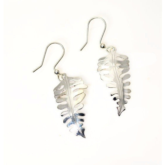 SILVER FERN EARRINGS - Side Street Studio
