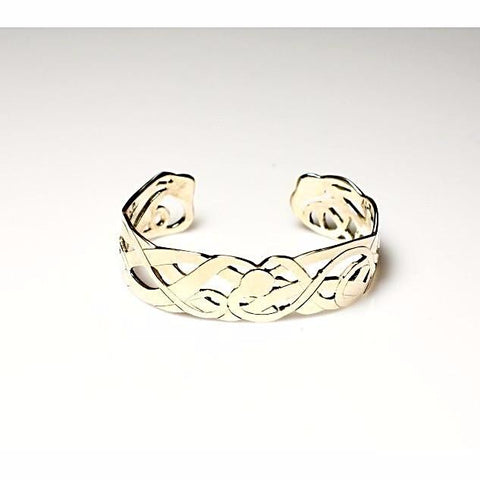 Sterling Silver Cuff Bracelet with Kelp Design