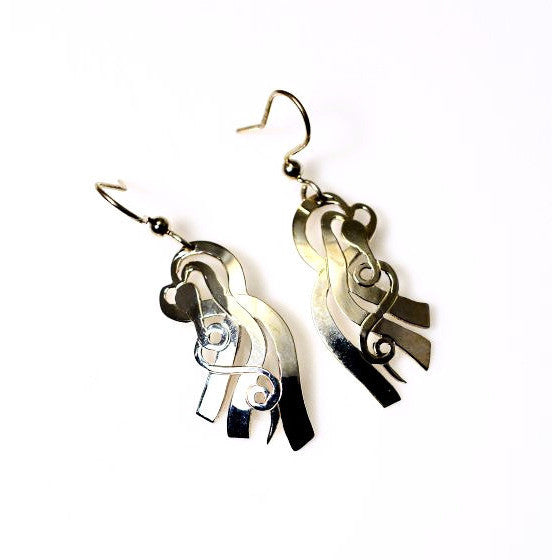 STERLING SILVER KELP EARRINGS - Side Street Studio