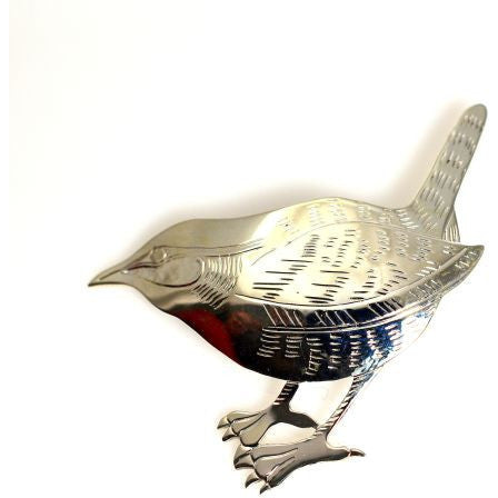 SILVER WREN BROOCH - Side Street Studio