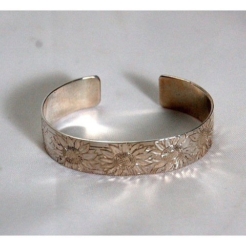 SUNFLOWER SILVER BRACELET - Side Street Studio