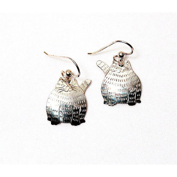 FAT CAT SILVER EARRINGS - Side Street Studio