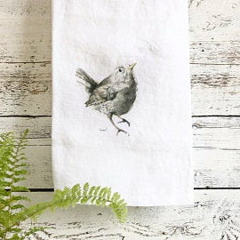 Wren Tea Towels by Emma Pyle