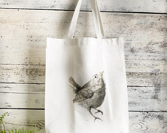 Wren Tote Bag by Emma Pyle Art