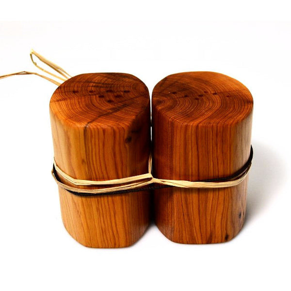 YEW WOOD SALT AND PEPPER SHAKERS - Side Street Studio