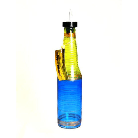 TALL BEER POURING BOTTLE - BLUE - Side Street Studio