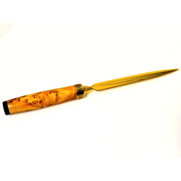 NEW LETTER OPENER - YELLOW CEDAR BURL - Side Street Studio