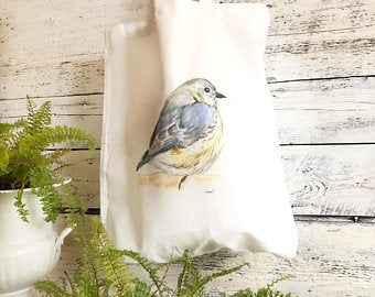 Blue Bird Tote Bag by Emma Pyle Art