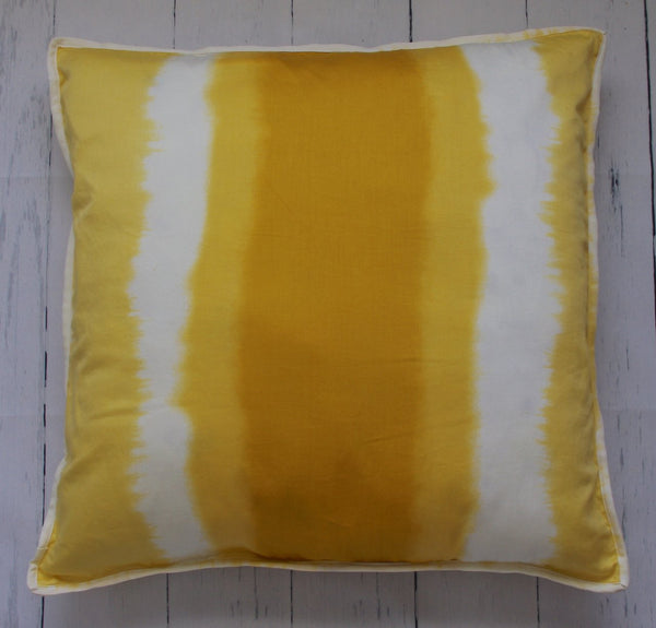 "24"" YELLOW GOLD OMBRE SQUARE FLOOR PILLOW"