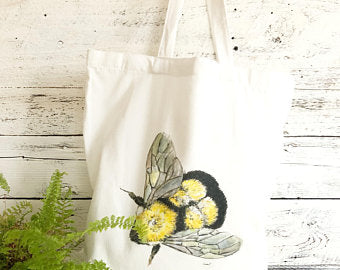 Bumble Bee Tote Bag by Emma Pyle Art