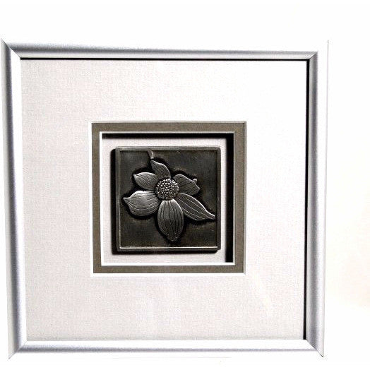 PEWTER DOGWOOD FLOWER PICTURE - Side Street Studio