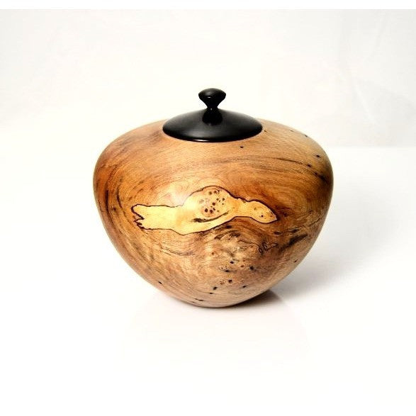 SPALTED MAPLE LIDDED VESSEL