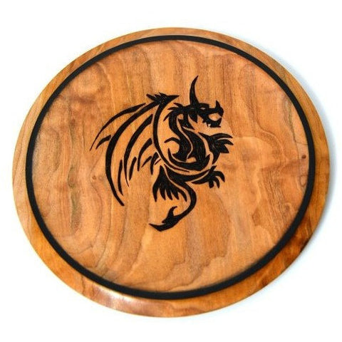 DRAGON DESIGN MAPLE PLATE OR TRIVET