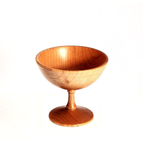 MAPLE WOOD TURNED STEM CUP - Side Street Studio