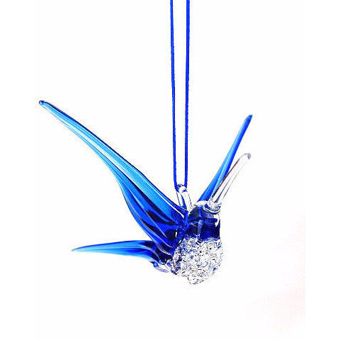 GLASS HUMMINGBIRD - BLUE - Side Street Studio