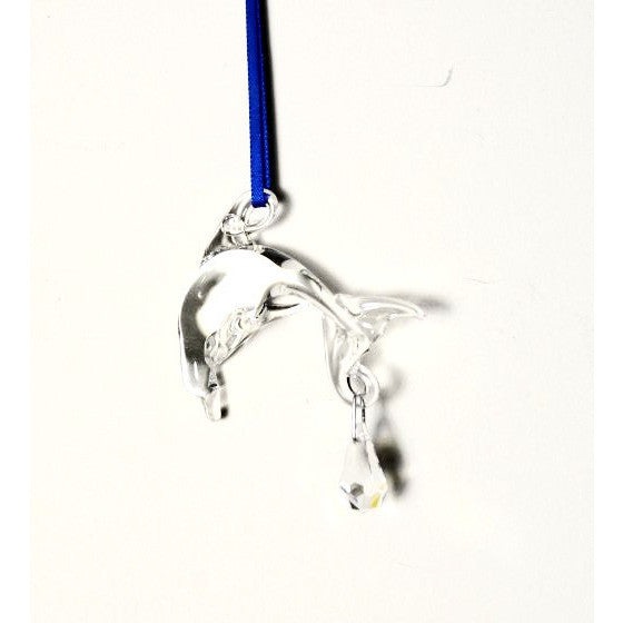 SMALL GLASS DOLPHIN - Side Street Studio