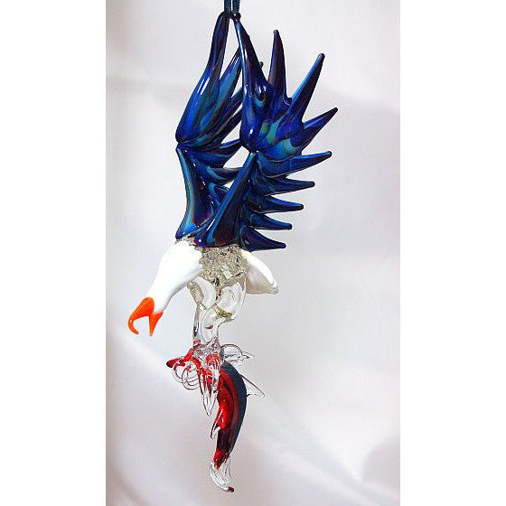 GLASS EAGLE WITH SALMON - Side Street Studio