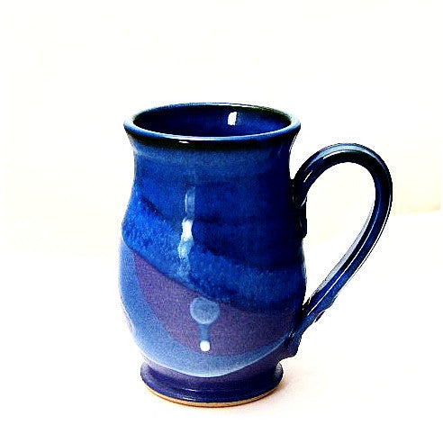 ROUND PURPLE AND BLUE MUG - Side Street Studio