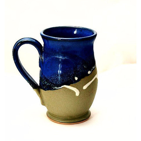 ROUND SAGE & BLUE MUG - Side Street Studio