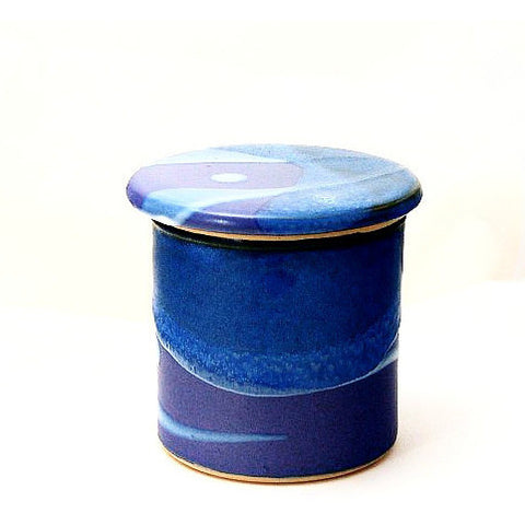 FRENCH BUTTER DISH - PURPLE & BLUE - Side Street Studio - 1