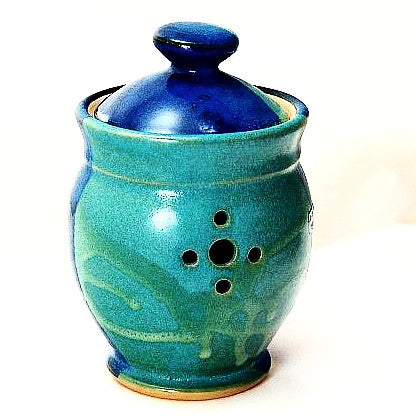 GARLIC POT - AQUA & BLUE - Side Street Studio