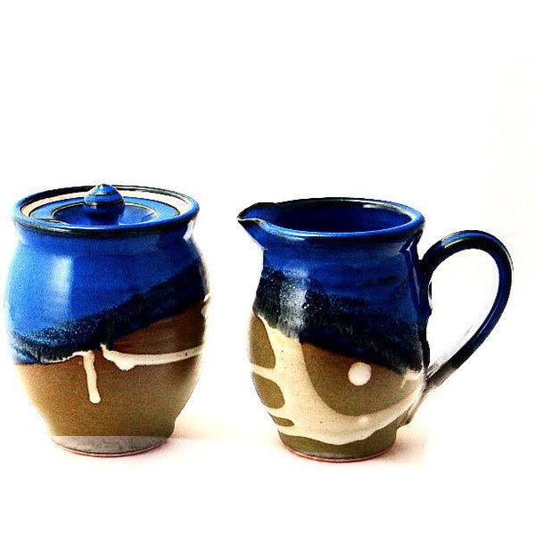 CREAM AND SUGAR SET - SAGE AND BLUE - Side Street Studio