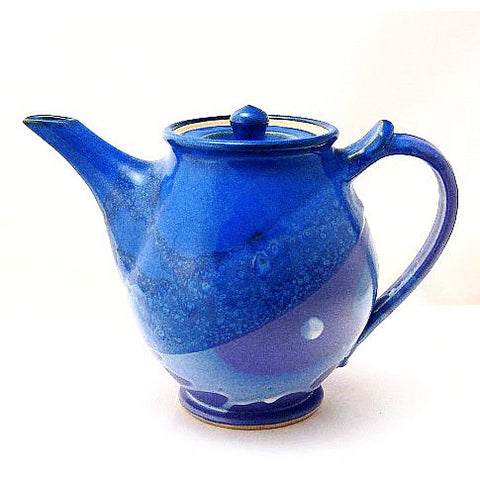 MEDIUM TEAPOT - PURPLE & BLUE - Side Street Studio