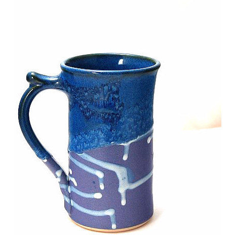STRAIGHT PURPLE AND BLUE MUG - Side Street Studio