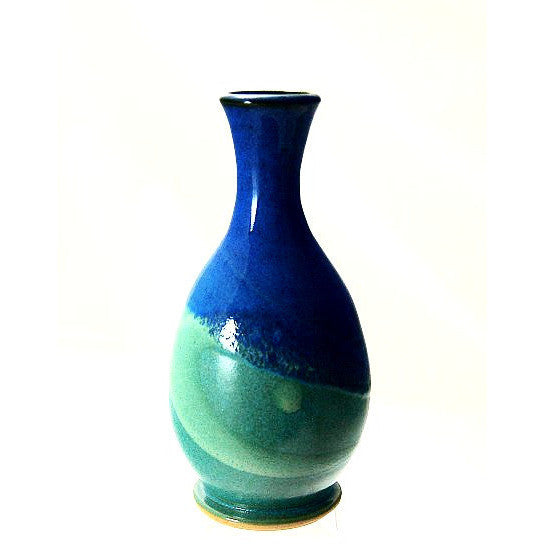 BUD VASE - AQUA AND BLUE - Side Street Studio