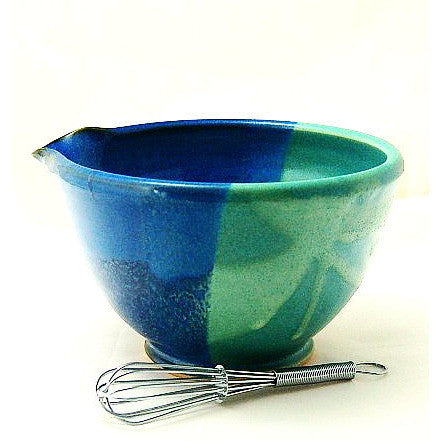 WHISK BOWL - AQUA AND BLUE - Side Street Studio