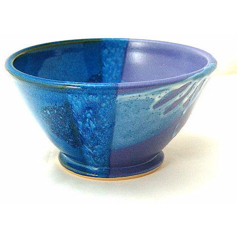 SMALL PURPLE AND BLUE SERVING BOWL - Side Street Studio