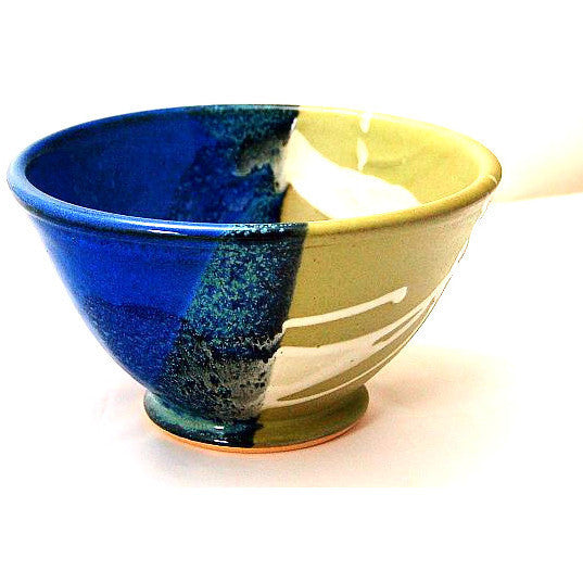 SMALL SAGE AND BLUE SERVING BOWL - Side Street Studio