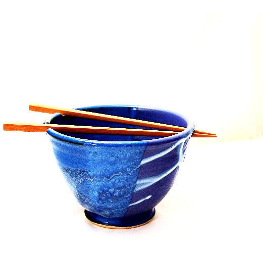 CHOPSTICK BOWL - PURPLE & BLUE - Side Street Studio