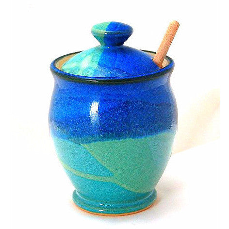 HONEY POT AND  STICK - AQUA & BLUE - Side Street Studio