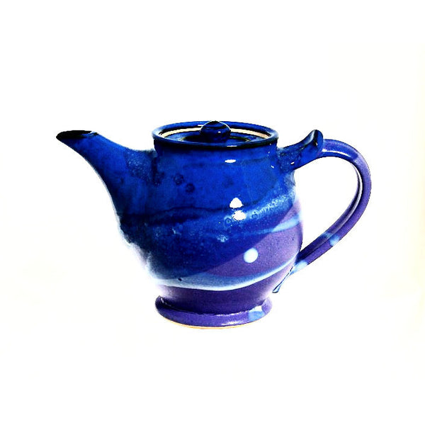 SMALL TEAPOT - PURPLE AND BLUE - Side Street Studio